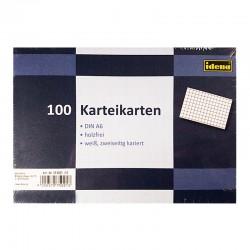 100 Karteikarten A6, kariert