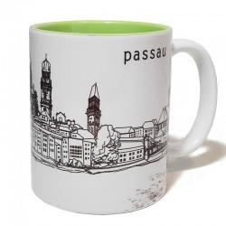 Tasse - Stadtkontur grün