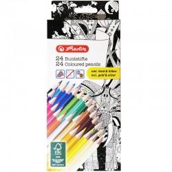Herlitz 24 Dreikantbuntstifte