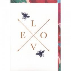 Grußkarte - LOVE