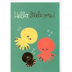 Grußkarte - Hello, little one!