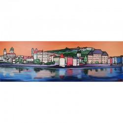 Acrylbild - Passau Orange 2