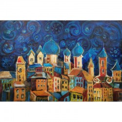 Acrylbild - Blaue Nacht