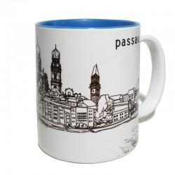 Tasse - Stadtkontur blau