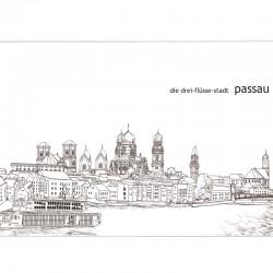 Postkarte - Stadtkontur