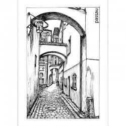 Postkarte - Höllgasse,...