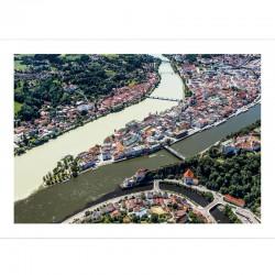 Postkarte - die 3 Flüsse in...