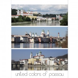 Postkarte - Passau Panorama 3x