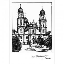 Postkarte - der Passauer Dom