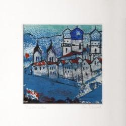 Acrylbild - Passau blau