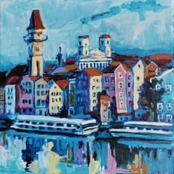 Acrylbild - Das Rathaus und...