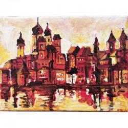Acrylbild - Passau -...