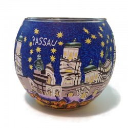 Leuchtglas - Passau blau 373