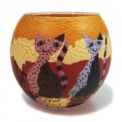Leuchtglas - Katzen 210