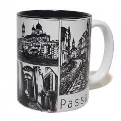 Tasse - Passauer Ansichten schwarz