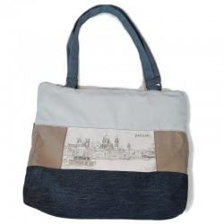 Handtasche - Stadtkontur sw