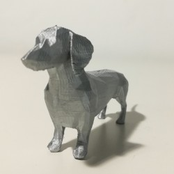 3D - Dackel, silber