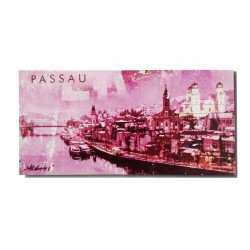 Metallmagnet - Passau in Pink