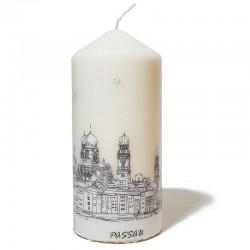 Passau-Kerze groß, Stadtkontur