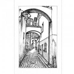 Fine Art Print - Höllgasse sw
