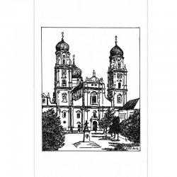 Fine Art Print - Domfassade sw