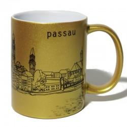 Tasse - Stadtkontur gold