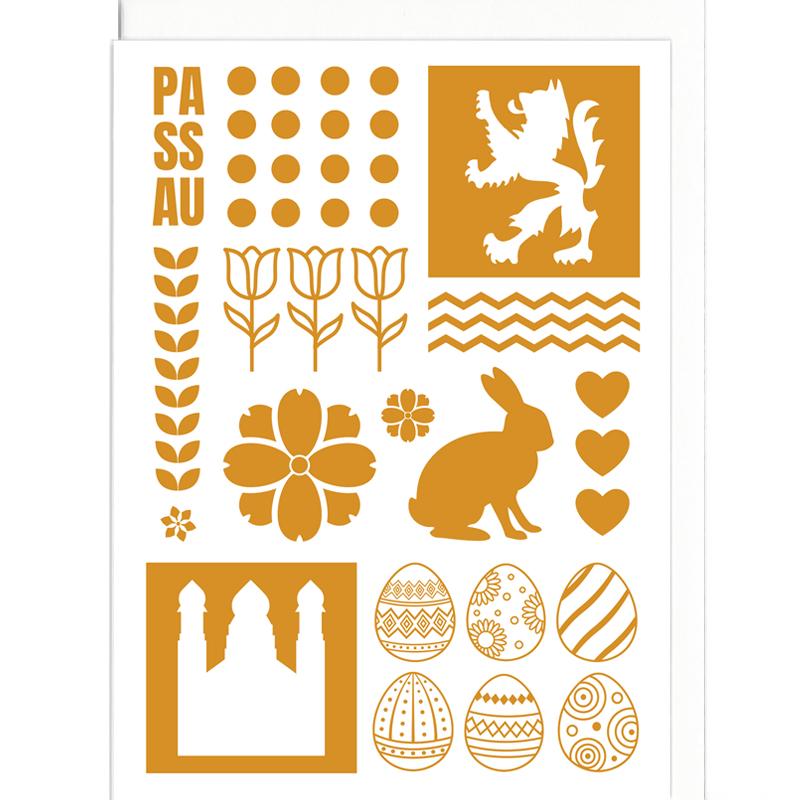 Grußkarte - Poster Ostern