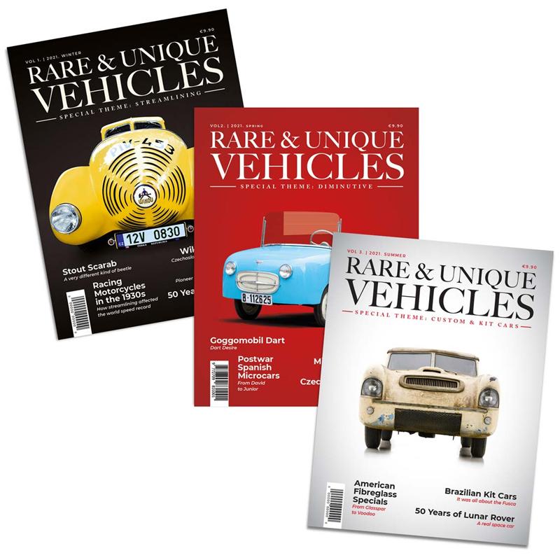 Zeitschrift - Rare & unique vehicles, Jahresabo